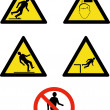 Workplace sign slippery falling fall — Stock Photo #7978166