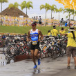 Ironman Philippines marathon run race finish - Stock Photo