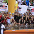 Ironman Philippines swimming race start - Stock Photo