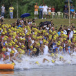 Ironman Philippines swimming race start — Stock Photo