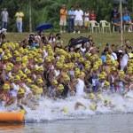 Ironman Philippines swimming race start — Stock Photo #7979122