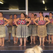 Stock Photo: New Zealand Maori perform HakWar dance