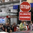 Stock Photo: Green Peace Climate Change campaign protest march in Auckland