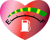 Fuel gage meter heart shape — Stock Photo