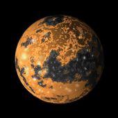 Jupiter moon ganymede — Stock Photo