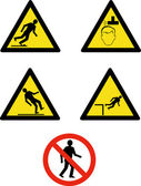 Workplace sign slippery falling fall — Stock Photo