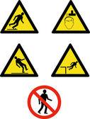 Workplace sign slippery falling fall — Stock Photo