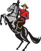 Cavallo equitazione di polizia a cavallo canadese mountie — Foto Stock