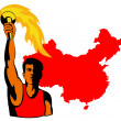 Athlete with flaming torch — Stock Photo #8910415