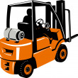Stock Photo: Forklift truck and driver at work