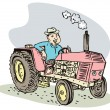 Vintage farm tractor — Stock Photo