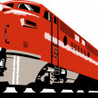 Diesel train locomotive retro — Stock Photo