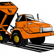 Stock Photo: Dumper tipper truck lorry