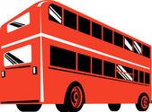 Double decker coach bus — Stock Photo