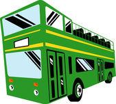 Dubbeldäckare buss buss — Stockfoto