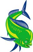 Dorado dolphin fish mahi-mahi jumping — Stock Photo