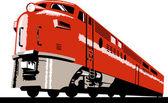 Diesel train locomotive retro — Stock Photo