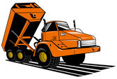 Dumper tipper truck lorry — Stock Photo