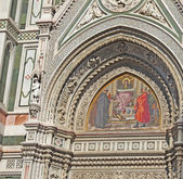 Fresco on Duomo — Stock Photo