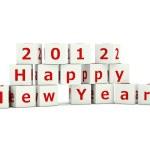 Happy New Year sign on bricks — Stock Photo