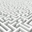 Stock Photo: White maze