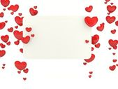 Greeting card with hearts — Stock fotografie