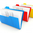 Foto Stock: Three folders