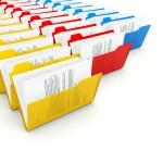 Rows of folders — Stock Photo