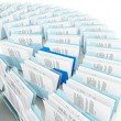 Rows of folders — Stock Photo
