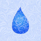 Seamless Pattern with Water Drop — Stock Vector