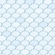 Seamless Light Blue and White Fluffy Cloud Pattern — Stock vektor