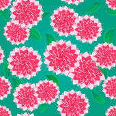 Bright Pink Flower Seamless Pattern — Stock Vector