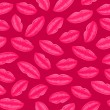 Seamless Pink Pattern With Lips — Stock Vector