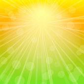 Sky Abstract Background with Rays of Sunshine. — Stock Vector