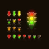Bright Traffic Lamps — Stock Vector