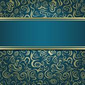 Tmavě zelená modrá Pozvánka — Stock vektor