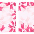 Set of Pink Floral Card — Vector de stock