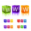 Www cubes combination — Stock Vector