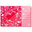 Stock Vector: Valentine day card and heart silhouettes