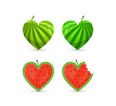 Watermelon In Form of Heart — Vecteur