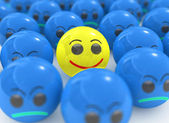 Yellow 3d individual smile — Stock Photo