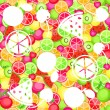 Vecteur: Seamless pattern with fruits