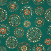 カラフルな丸い要素とのシームレスなパターン — ストックベクタ