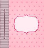Cartão de férias-de-rosa com os lábios — Vetor de Stock