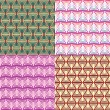Abstract Geometric Seamless Pattern Set — Stock Vector #9536953