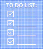 ToDo List on Blue Checked Sheet — Wektor stockowy