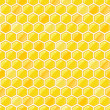 Seamless Pattern with Honeycombs - Stock Vector
