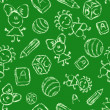Hand drawn seamless pattern with kids — Stockvectorbeeld