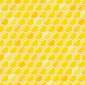 Seamless Pattern with Honeycombs — Stock Vector