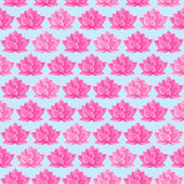 Pink Lotus Flower Seamless Pattern — Stock Vector